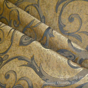 Printed Leather 100% Polyester Suede Fabric for Sofa Covers pictures & photos