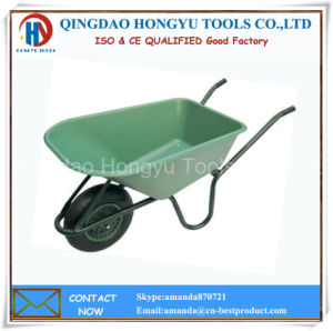 Europe Hand Wheel Barrow with Plastic Tray (WB-6424S) pictures & photos