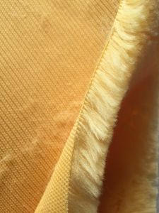 Yellow Polyester Paint Roller Fabric pictures & photos