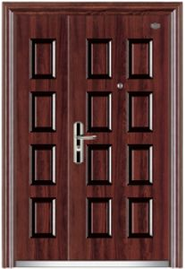High Quality Steel Door with Glass for Villa/Luxury Steel Security Door/Villa Door/Garden Door pictures & photos