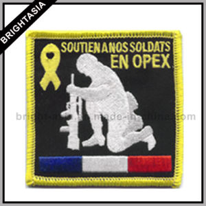 Embroidery Iron-on Patch for France Soldier (BYH-11076) pictures & photos