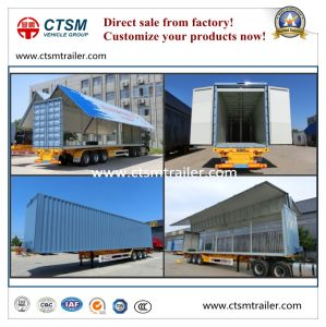 Side Open/ Wing Opening Insulated Box Semi Truck Trailer pictures & photos