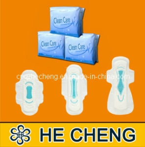 Standard Thickness Sanitary Napkin with Printed Blue Adl (BAD-SN) pictures & photos