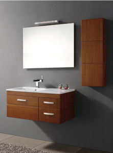 New Arrival Birch Soild Wood Bathroom Cabinet pictures & photos