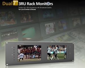 "Dual 7"" 3ru Rack Monitors with Dual 7"" IPS Screens pictures & photos"