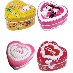 2017 New Design OEM Heart Shape Gift Tin pictures & photos