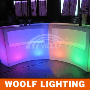 Guangzhou LED Lighting Furniture Rest Bar Counter Table and Chairs, Bar Stools pictures & photos