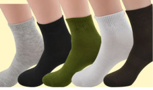 Wholesales Price Factory Pure Cotton Sports Socks pictures & photos