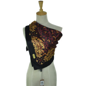 Silk Satin Ladies Square Printed Scarf