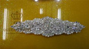 Decorative Rhinestone Fabric Trim Applique for Sash (DSC02073)