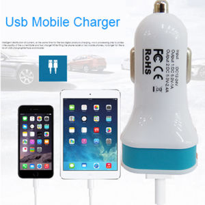 Car Charger Adaptor Bullet Dual USB 2 Port for USB Port Device pictures & photos
