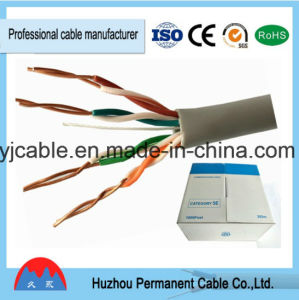 LAN Cable Category 5 Ethernet Cable Cat5e UTP 4pr 24AWG pictures & photos