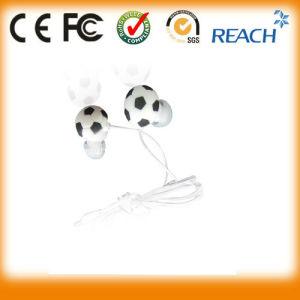 Customer PVC Football Earphones Cartoon Earbuds pictures & photos