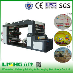 < Lisheng> Export to Ghana High Speed 4 Colors Plastic Film Printing Machines Shopping Bags pictures & photos