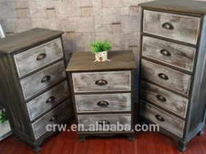 Antique Solid Wood Nightstand with Drawers pictures & photos