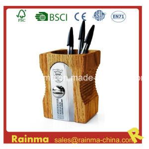 Big Wooden Sharpener Shape Pen Holder pictures & photos