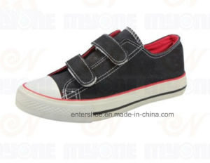 High Quality Vulcanized Magic Tape Canvas Sneaker for Kids (ET-MY170423K) pictures & photos
