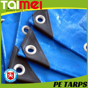 Waterproof PE Tarpaulin Sheet/ with Plastic Bar pictures & photos