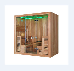 Two-Side Seating Type Wooden Dry Sauna Room (M-6043) pictures & photos