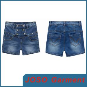 High Waist Hot Lady Shorts Jeans (JC6021) pictures & photos