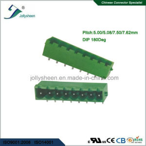 Pluggable Terminal Blocks 8pin Right Angle with Green Housing pictures & photos