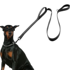 Dog Leash 2 Handles Black Nylon Padded Double Handle Leash pictures & photos