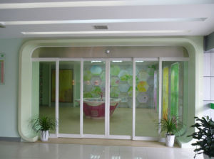 Automatic Operation Overlapping Sliding Door pictures & photos