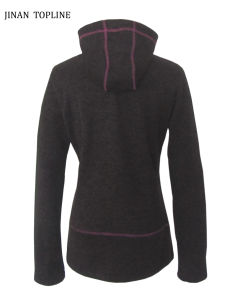 Women Hoodies Knitted Fleece Casual Jacket pictures & photos