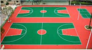 Silicon PU Material Synthetic Basketball Court Flooring