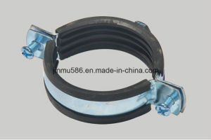 Pipe Clamps with Rubber (1 3/4′′) pictures & photos