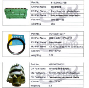 Sinotruck HOWO Truck Spare Parts Auto Accessory Rear Oil Seal pictures & photos