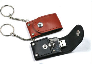 Promotional and Fashionable Wristband Leather USB Drives (PZE514) pictures & photos
