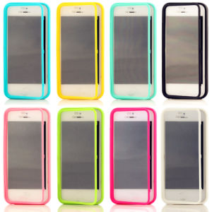 Touch Screen TPU Flip Cover Case for iPhone 5s pictures & photos