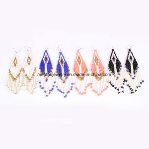 Hot-Sale 4 Colors New Arrival Bohemian Woven Beaded Tassel Earrings pictures & photos