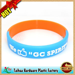 Embossed Silicone Bracelet with SGS Certification (TH-05992) pictures & photos