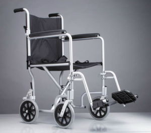 High Quality Aluminum Flyweight Transport Wheelchair