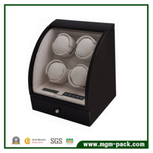 Standing Rotating Wooden 4 Watch Winder with LED pictures & photos