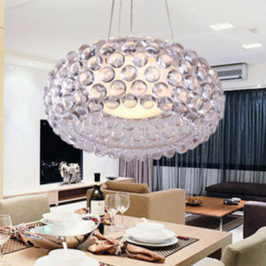 Modern Clear Round Acrylic Cover Caboche Suspension Foscarini Caboche Pendant for Living Room