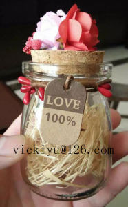 Glass Seasoning Jar for Salt or Pepper with Metal Lid pictures & photos