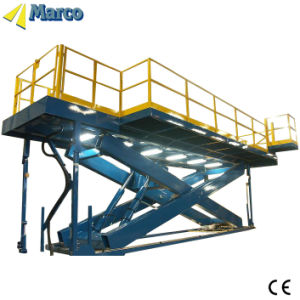Marco Twin Scissor Lift Table with Guardrail pictures & photos