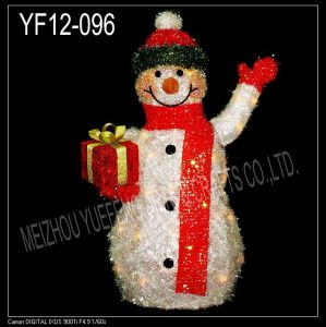 White Tinsel Snowman (YF12-096)
