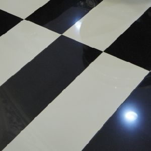 Super White and Black Floor Tiles
