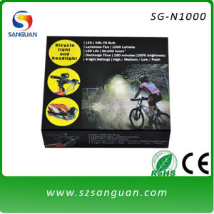 1000lm Waterproof Rechargeable LED Light for Bike with CE and RoHS