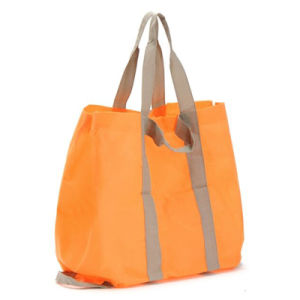 Fashion Reusable Customized Logo Promotional Polyester Shopping Bag