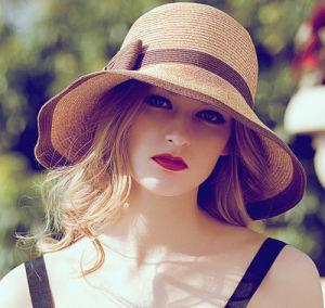 Custom Wholesale Summer Sunshade Straw Sunscreen Beach Hat pictures & photos