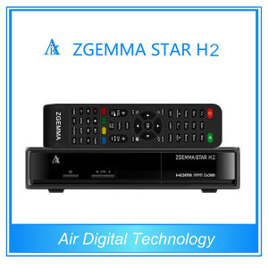 Combo DVB-S2 DVB-T2/C Receiver Zgemma Star H2 with Twin Tuner HD Satellite Receiver pictures & photos
