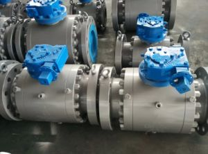 "API6d Class600 8"" Forged Trunnion Ball Valve pictures & photos"