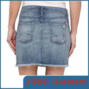 China Women Mini Denim Skirts (JC2025) - China Skirts, Mini Skirts
