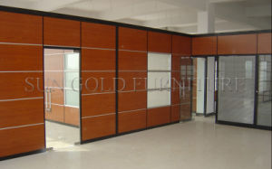Modern High Partition with Glass Door (SZ-WS038) pictures & photos