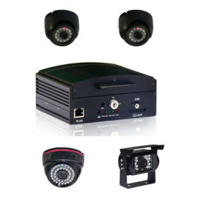 School Bus Mobile DVR Supports 3G and GPS 4 Channels Recording SD Card and HDD Both Supported pictures & photos